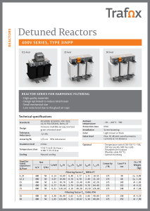 DETUNED REACTORS 400V 3INPP