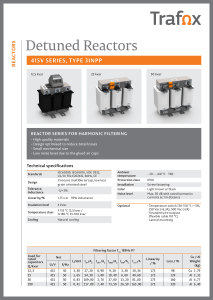 DETUNED REACTORS 415V 3INPP