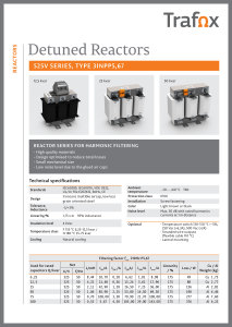 DETUNED REACTORS 525V 3INPP5,67