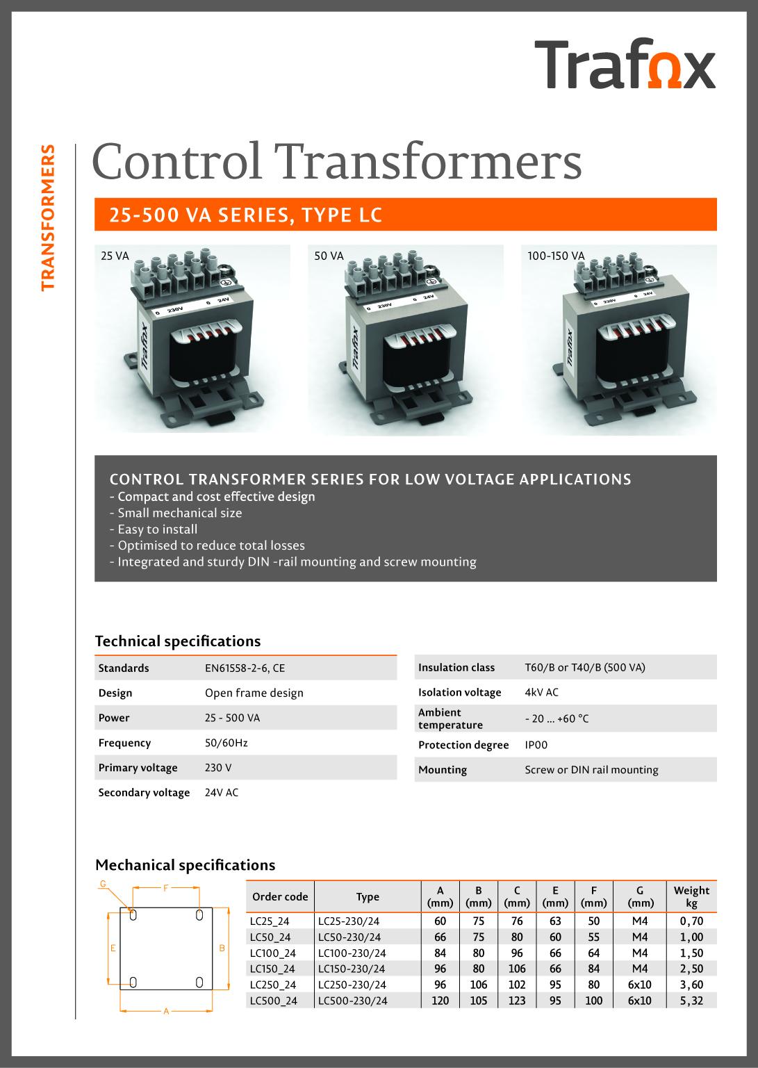 LC Control Transformer