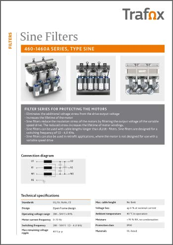 SINE FILTERS 460 1460A